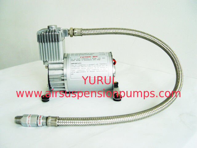 Pewter Air Suspension Compressor YURUI 6390R 150PSI For Air Bag Suspension Horn System