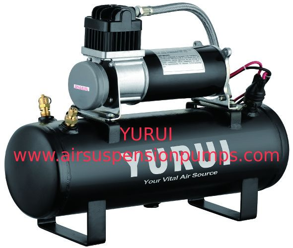 12V 150PSI Air Source Kits Onboard Air Systems 1.5 Gallon Tanks Black Metal For Fast Inflation