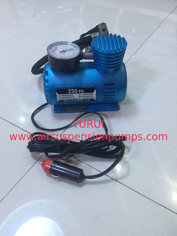 Small Fast Inflation Black And Blue Portable Air Compressor For Car With CE Certification
