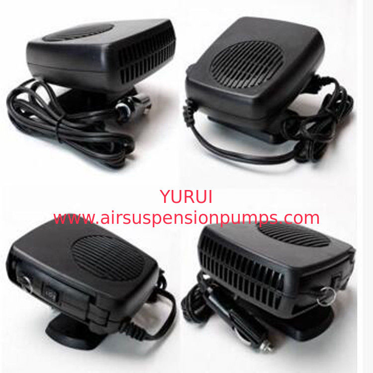 Dc 12v Plastic Portable Car Heaters Black Color With Fan / Heater Function