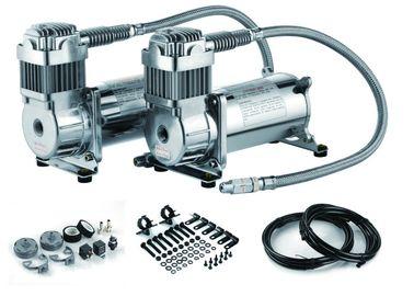12V si raddoppiano compressore d'aria doppio del carro armato dell'aria da 200 PSI di giro del compressore d'acciaio della sospensione